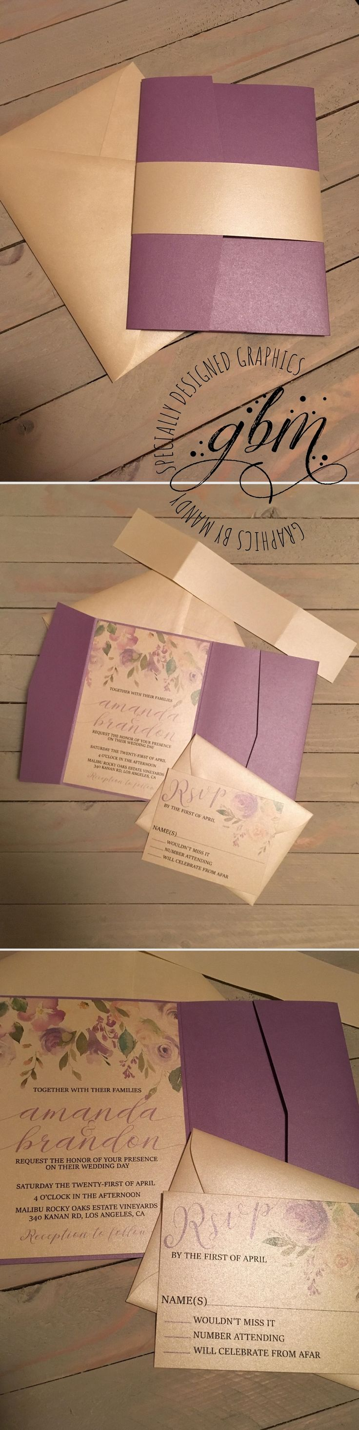 in wedding invitations is the man s name first%0A   Champagne Pop   This beautiful fully metallic wedding set is exactly what  you u    ve been looking for  Shimmery champagne with a pop of lavender