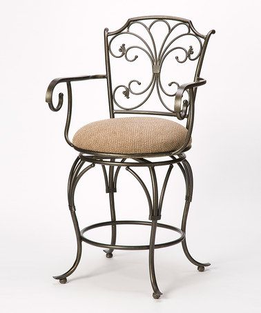 Another great find on #zulily! Scrolled Metal Swivel Counter Stool #zulilyfinds