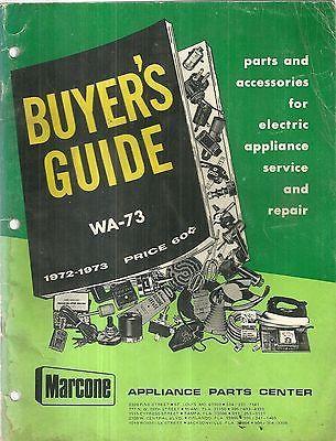 Marcone Appliance Parts Center Catalog ASBESTOS Electronics  1973