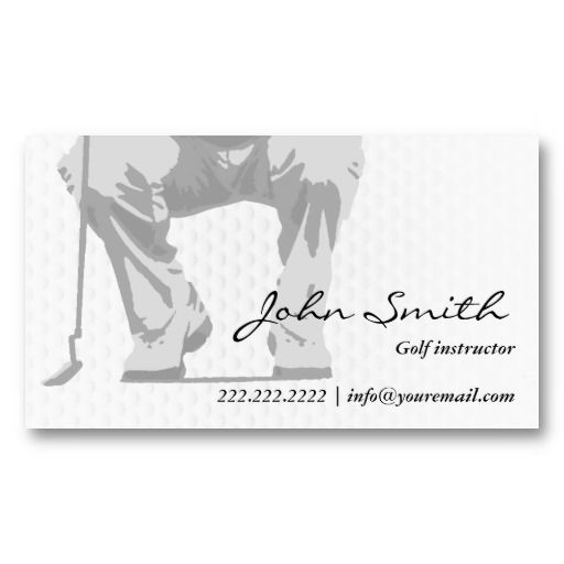 16 best golf instructor business cards images on pinterest professional putt golf instructor business card colourmoves
