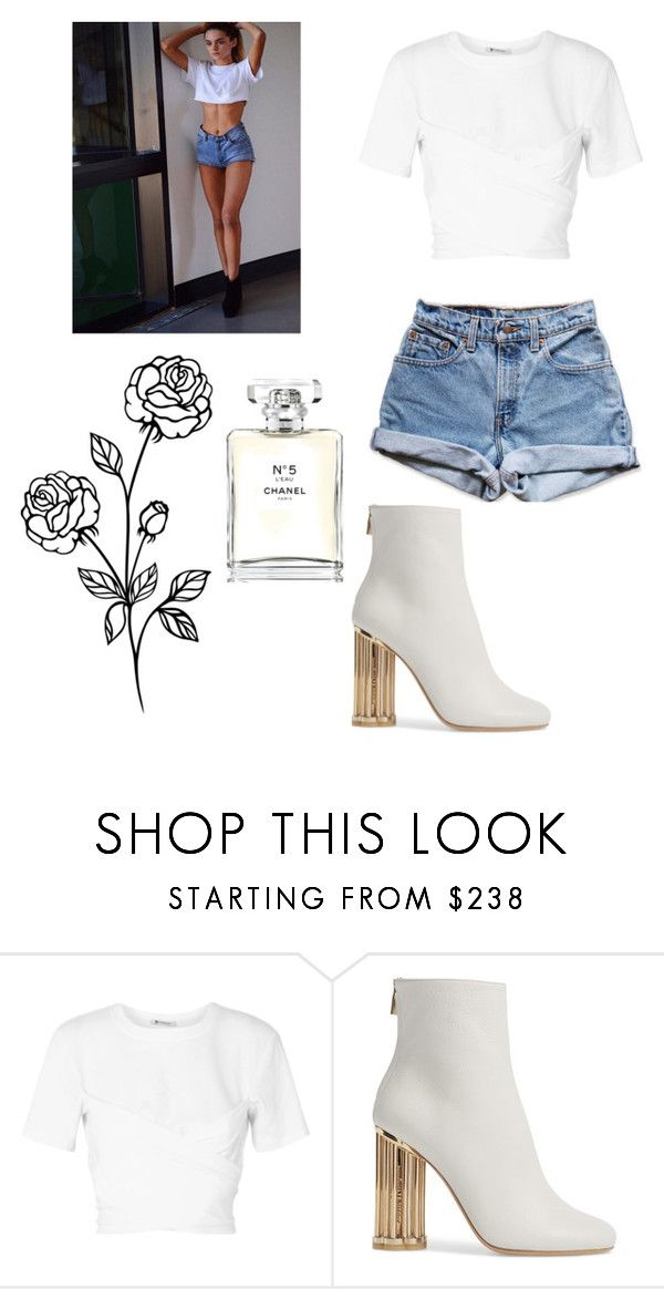 """👀"" by oliviasoffer ❤ liked on Polyvore featuring T By Alexander Wang, Levi's, Salvatore Ferragamo and Chanel"