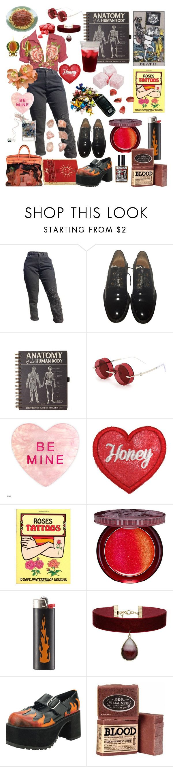 """""""rosie"""" by aintnodisco ❤ liked on Polyvore featuring Givenchy, Percy Lau, Paul & Joe, Sony, Topshop, T.U.K., Pink, roses and blackandred"""