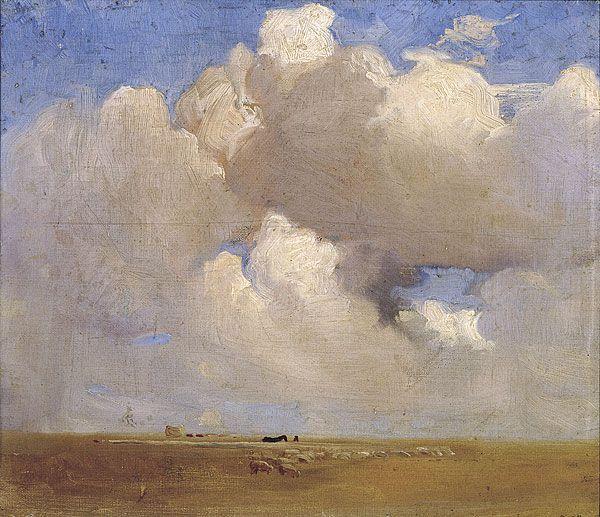 'On the Black Soil Plains' by George Lambert, Australian painter, 1873-1930