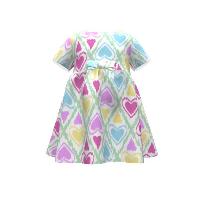 Puperita хула-Хуп платье с конструкциями ли spoonflower на модели прорастают. Любимый шаблон сердца .