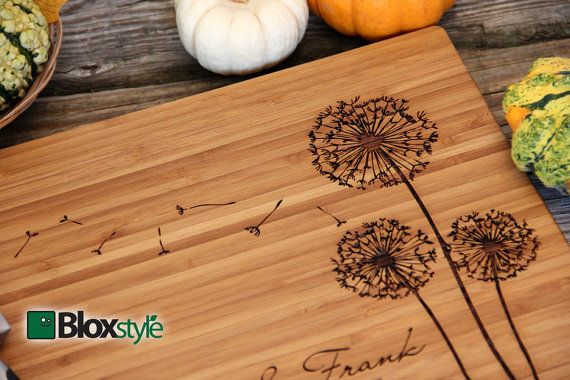 Wish the newly weds well with a one of a kind personalized cutting board. Our cutting boards are designed to be displayed on the engraved side