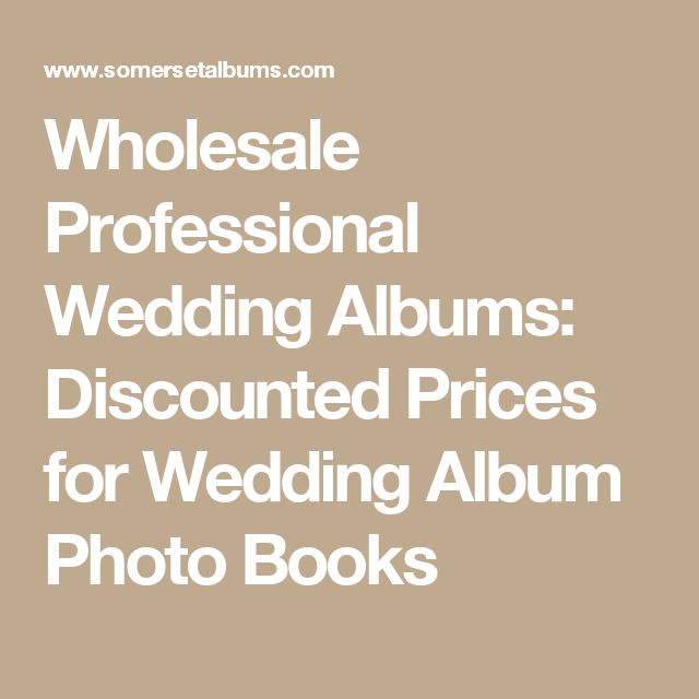 Wholesale Professional Wedding Albums: Discounted Prices for Wedding Album Photo Books
