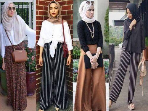 Palazzo pants hijab-Hijabers fashion looks – Just Trendy Girls
