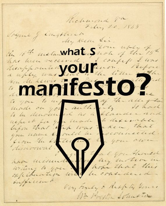 What s your manifesto by BeyondDesignStudio on Etsy