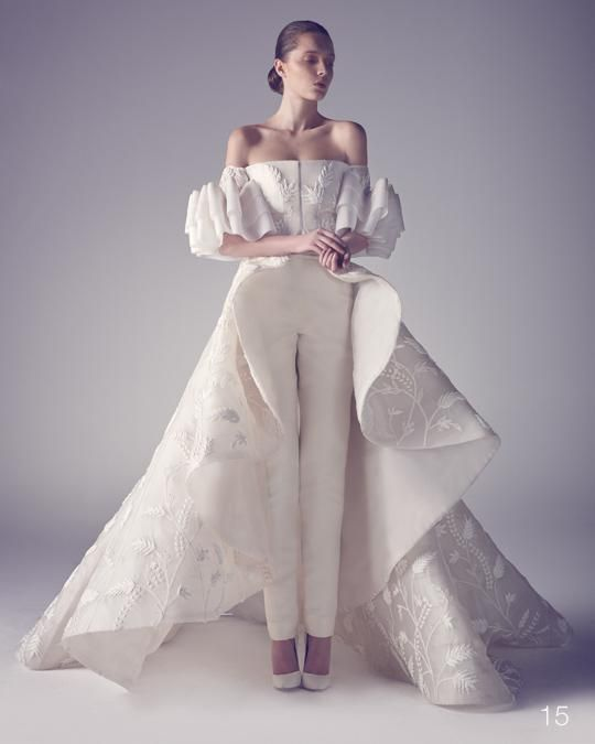 Ashi studio spring 2015 couture wedding spring and for Dress pant outfits for wedding