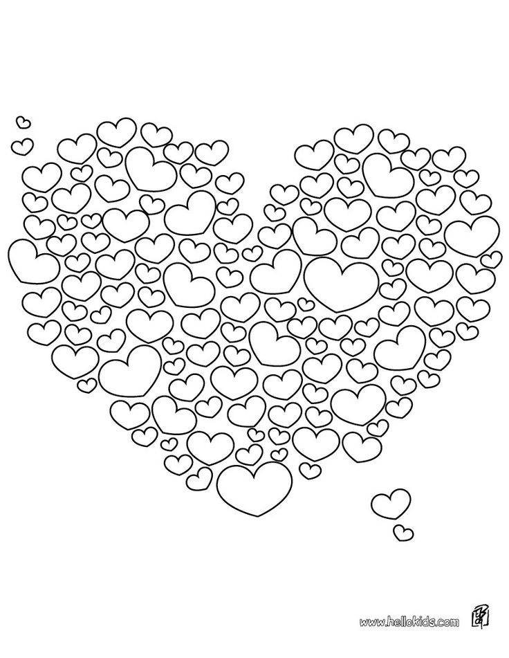 Free Valentine Pictures to Color | Valentine Heart Coloring Pages Free