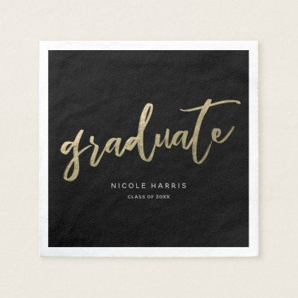 Graduate in Gold Napkins - graduation gifts giftideas idea party celebration
