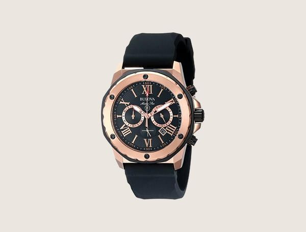 Bulova 98b104 Marine Star Calendar Stainless Steel Nice Dress Watch For Men