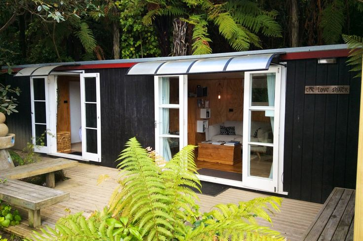 The Loveshack.Romantic secluded lake front cottage in Okere Falls, Lake Rotoiti | Bookabach