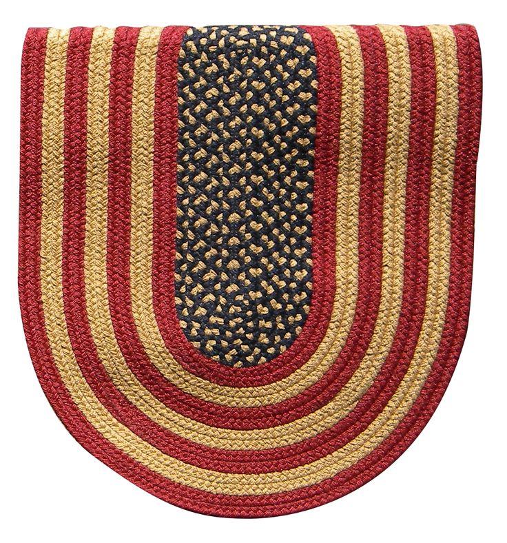 Braided Rug Colonial Rustic American Flag