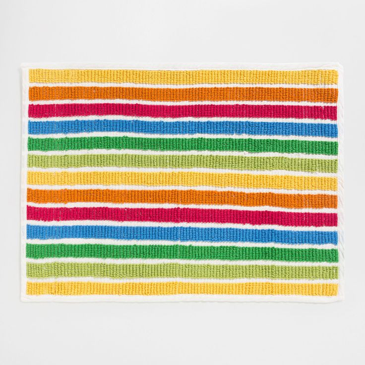 Image 1 of the product MULTICOLOURED STRIPED BATH MAT