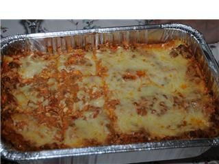 The Lady and Sons Lasagna ( Paula Deen ) from Food.com: I saw Paula Deen make this today and had to run out and get the ingredients to try it. WOW -- this is fantastic lasagna. I couldn't wait to share, and I hope you love it too!!
