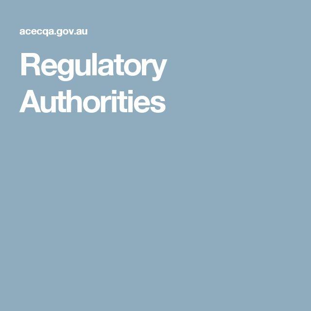 Regulatory Authorities