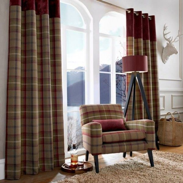 Curtain Fabrics: Balmoral Collection - Heather