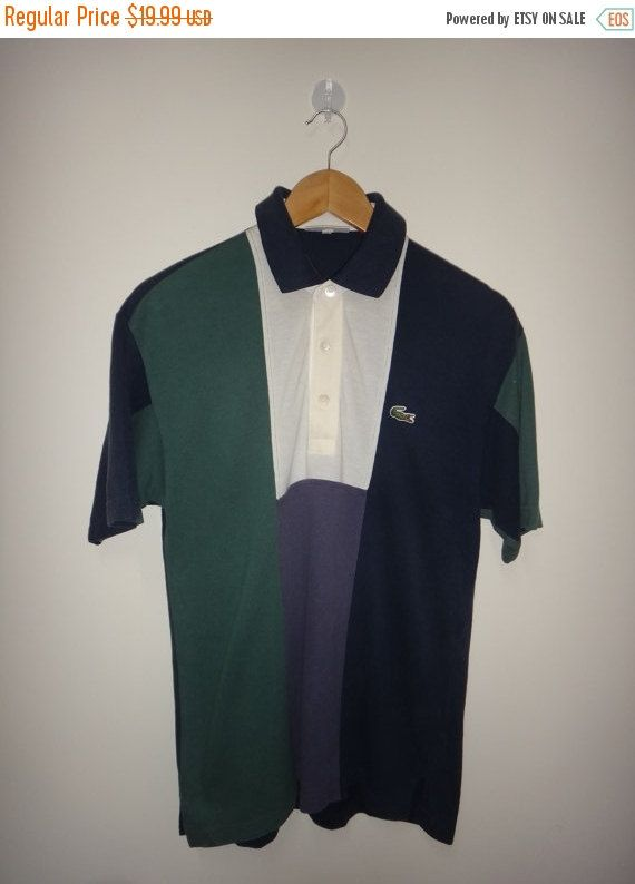 Christmas Sale LACOSTE Vintage Polo Shirt by Smokevintageclothing
