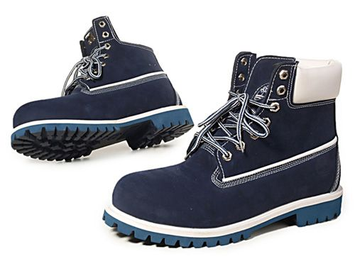 Navy Blue Custom Timberland 6Inch Boots For Women