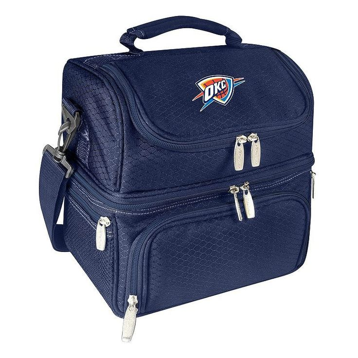 Picnic Time Oklahoma City Thunder Pranzo 7-Piece Insulated Cooler Lunch Tote Set, Blue (Navy)