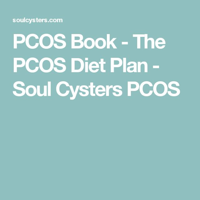 PCOS Book - The PCOS Diet Plan - Soul Cysters PCOS