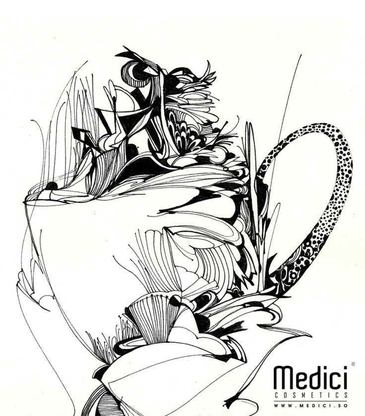 "www.medici.so [Medici x Peach Bang] ""Aromatic Buon Giorno of Dancing Khaldy_춤추는 칼디의 향기로운 본 조르노_ink on paper"""