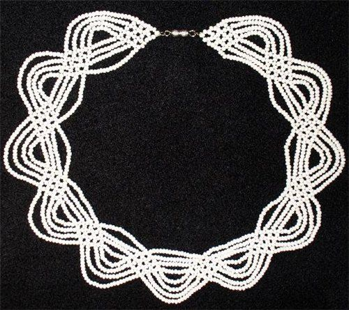 white necklace | biser.info - all about beads and beaded work