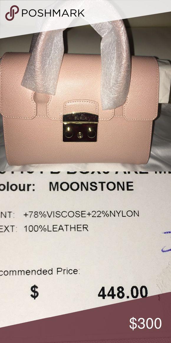 FURLA METROPOLIS SATCHEL S MOONSTONE Also comes as a cross body as well as a handbag  Original price $448 Sale price $250 Furla Bags