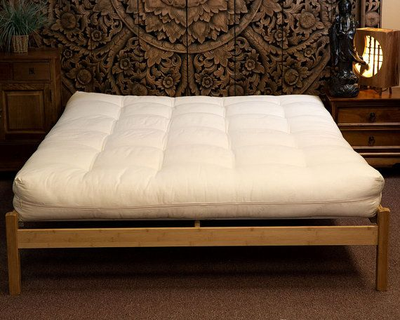 futon organic cotton filling with wool in organic cotton shell twin futonfuton - Twin Futon Mattress