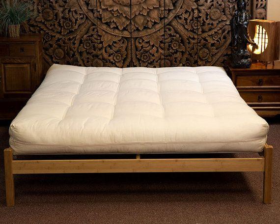 full futon all natural cotton and wool with organic cotton shell sleepy sheep organics
