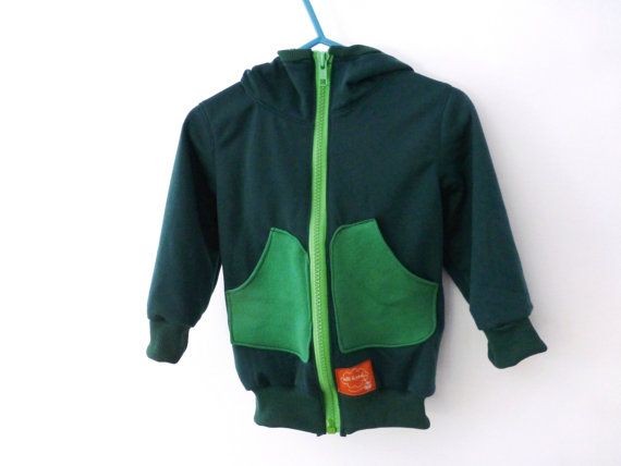 Toddler boy hooded jacket - Dinosaur jr. green sweatshirt hoody - zip up hoody - sports jacket for toddler and baby boys (OPTIONAL APPLIQUE)