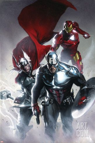 Art.fr - Poster 'Secret Invasion No.6 Cover: Captain America, Thor and Iron Man'