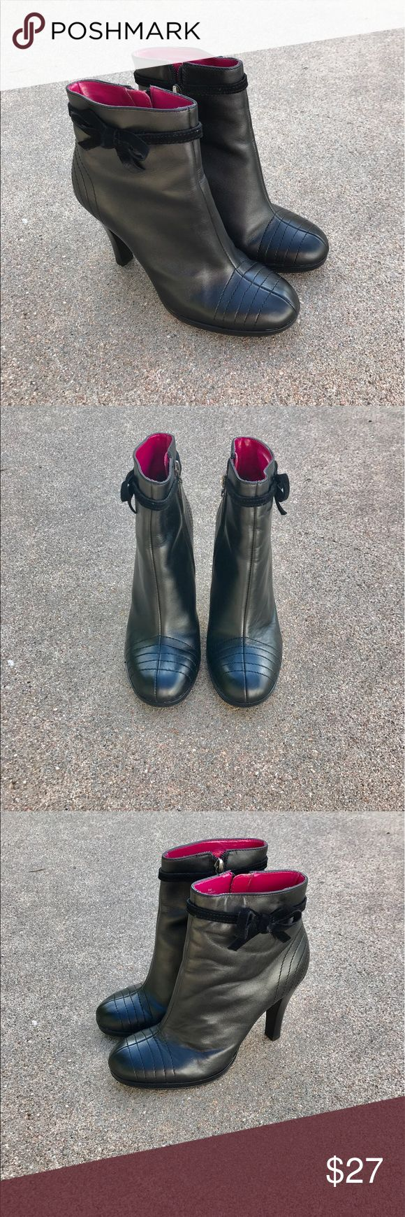 """Tommy Hilfiger Nara Women's Boots Black Leather 8M Lovely Tommy Hilfiger(Tommy Girl) women's Nara ankle boots shoes black leather Size 8 M. Heel height 4"""" Condition. pre-owned, typical wear on outsoles. Overall in good condition. Tommy Hilfiger Shoes Ankle Boots & Booties"""