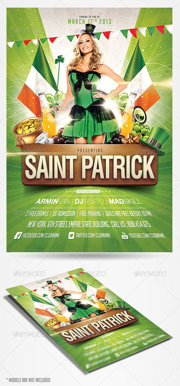 Saint Patrick's Day Party Flyer - GraphicRiver Download PSD :)