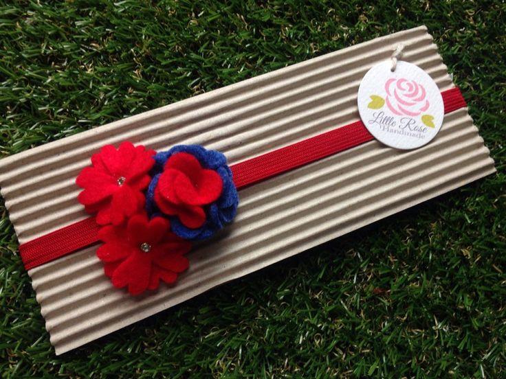 Fascia elastica per capelli a fiorellini, by Romanticards e Little Rose Handmade, 6,00 € su misshobby.com