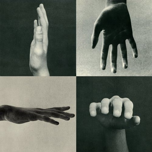 'Hands, a Point of View', Collage art, black and white photo.