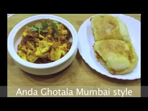Anda Ghotala Mumbai Style /Indian egg prepration/Streetfood - YouTube