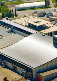 Sky Products Designed and supplied the S-5! Colorgard Snow Guard System International Ice Rink roof at the Markin MacPhail Athletic and Ice Complex in Calgary