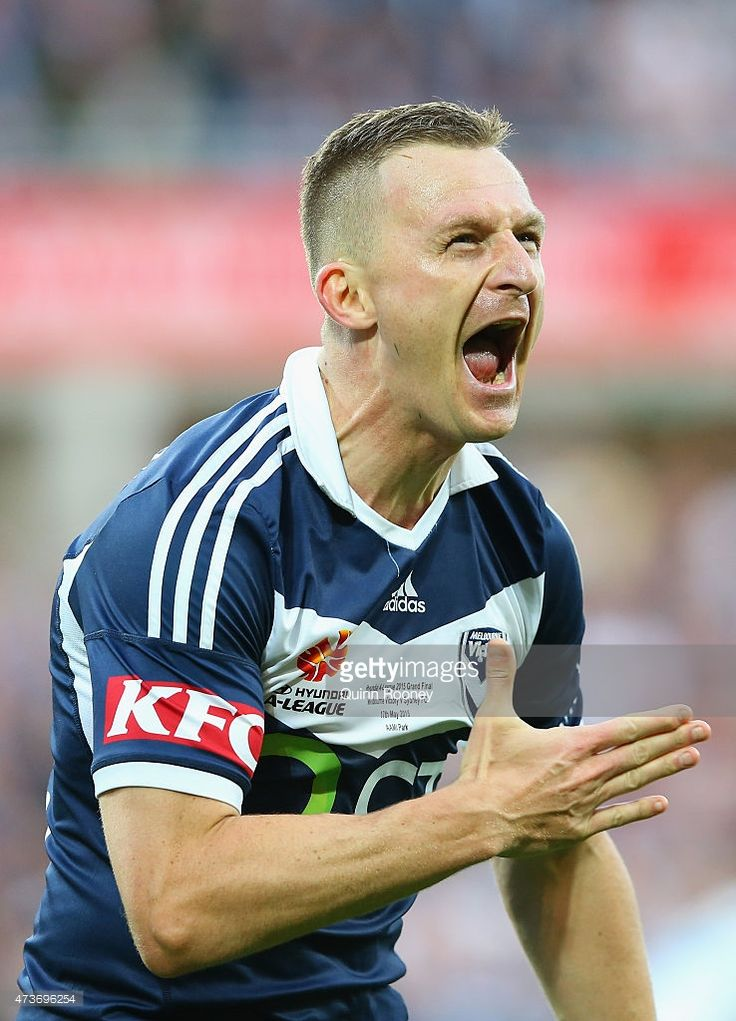 Besart Berisha of the Victory celebrates scoring a goal during the 2015 A-League Grand Final match between the Melbourne Victory and Sydney FC at AAMI Park on May 17, 2015 in Melbourne, Australia.