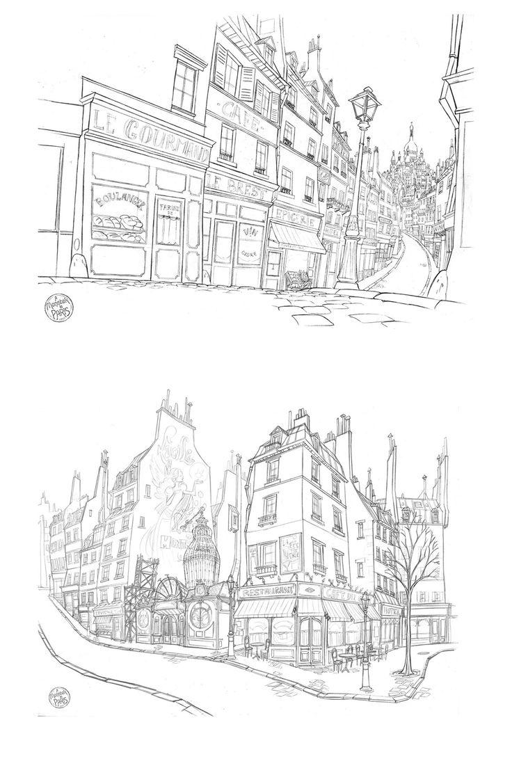 Incríveis desenhos de Paul Mager para o filme Um Montro em Paris   THECAB - The Concept Art Blog