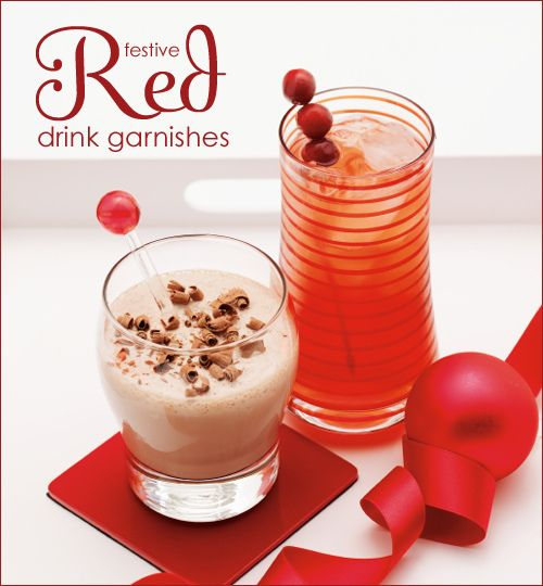 Festive drink garnishes!: Redholidaydrink 1 Holidays, Christmas Parties, Holidays Cocktails, Redholidaydrinks 1 Holidays, Food Pictures, Holidays Drinks, Holiday Drinks, Drinks Recipes, Drinks Garnishing