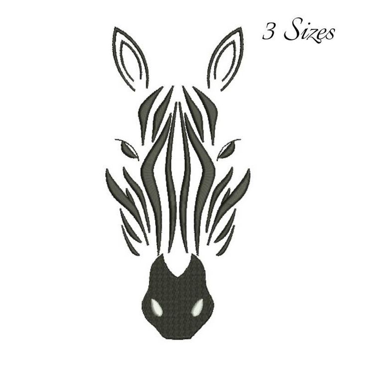 Zebra head embroidery design in the hoop pes files towel pattern animals designs instant digital download instant pattern by SvgEmbroideryDesign on Etsy