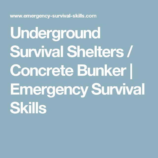 Underground Survival Shelters / Concrete Bunker | Emergency Survival Skills