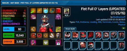 Marvel Heroes 2015 Ant-Man Fist Full O' Layers Build   Web Junkies Blog
