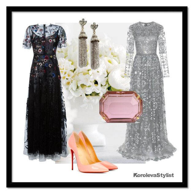 """""""Looks for the ball"""" by iran-88 on Polyvore featuring мода, Valentino, Christian Louboutin, Charlotte Olympia и BaubleBar"""