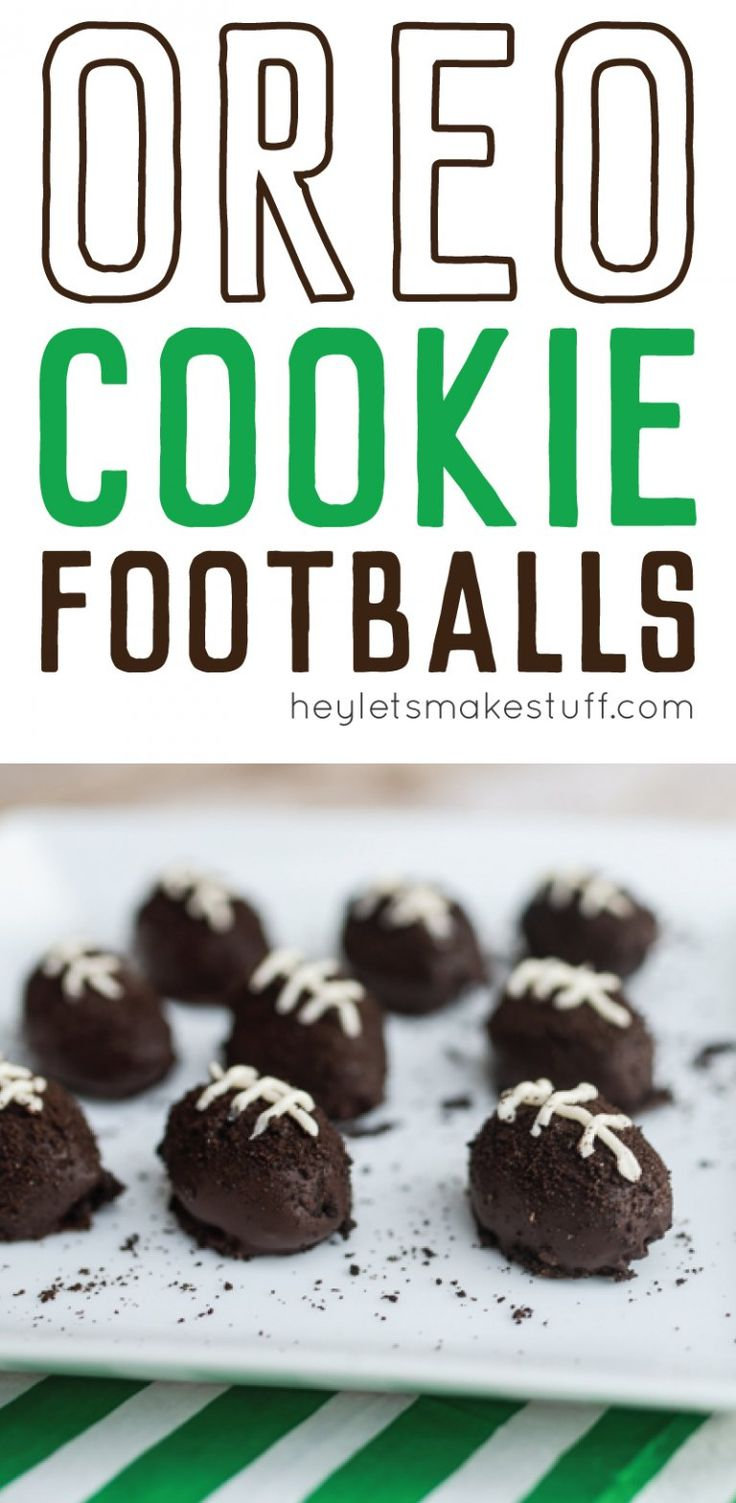OREO Cookie Ball footballs are the perfect super bowl treat! They are a fun delicious snack that everyone will love — no matter which team you're rooting for!