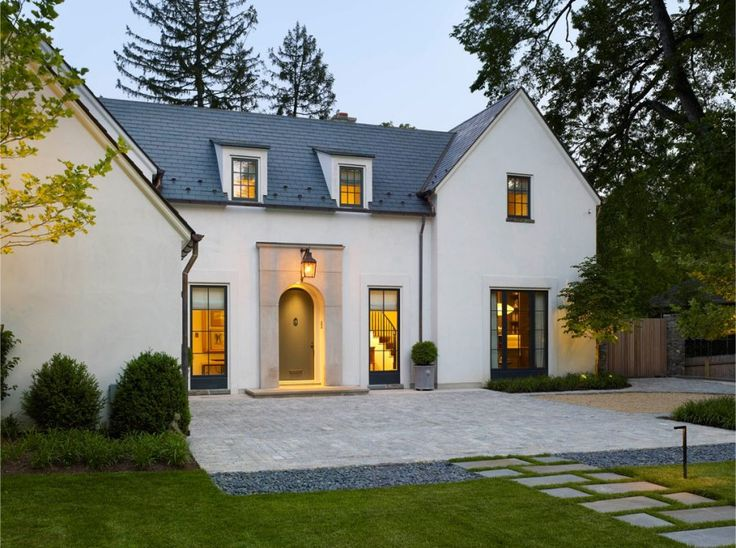 Clean-lined classic stucco home