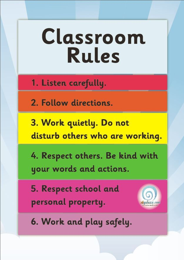 Free Classroom Rules Poster