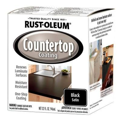 Rustoleum Countertop Paint White : Rust-Oleum Specialty Paint. 1-qt. Black Satin Countertop Paint (2-Pack ...